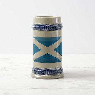 Saint Andrew Flag of Scotland Jewel Beer Stein