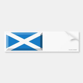 Saint Andrew Flag of Scotland Jewel Car Bumper Sticker