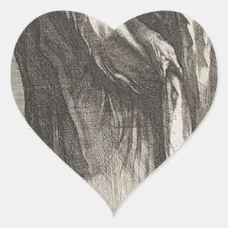 Saint Andrew Heart Sticker