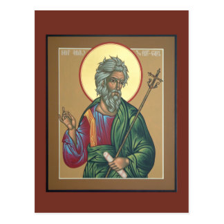 Saint Andrew Prayer Card Postcard