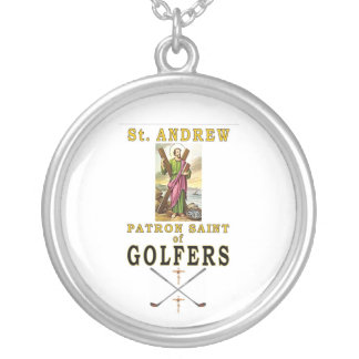 SAINT ANDREW ROUND PENDANT NECKLACE