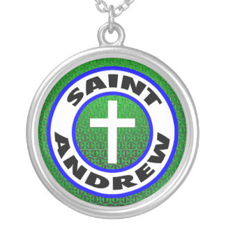 Saint Andrew Round Pendant Necklace