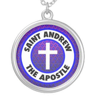 Saint Andrew the Apostle Round Pendant Necklace