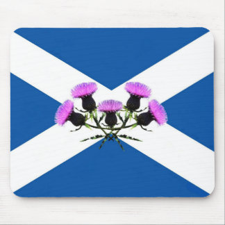Saint Andrew's cross and thistles Mouse Pad