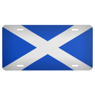 Saint Andrew's Cross License Plate