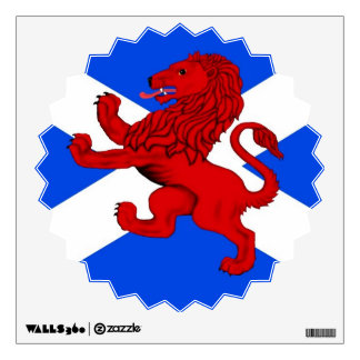 Saint Andrews cross , Rampant lion Wall Decal