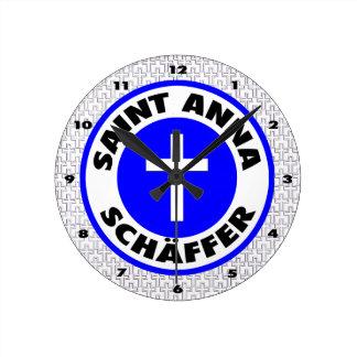 Saint Anna Schäffer Round Clock