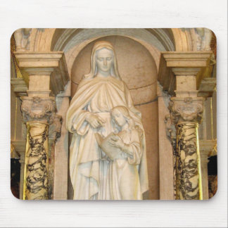 Saint Anne & Child Mary Statue Mouse Pad
