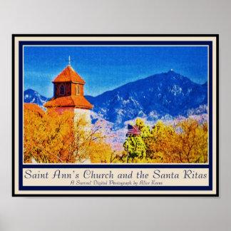 Saint Ann's Church and the Santa Ritas poster