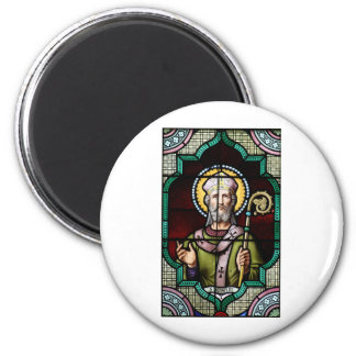 Saint Anselm of Canterbury Stained Glass Art 2 Inch Round Magnet