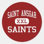 Saint Ansgar - Saints - Middle - Saint Ansgar Iowa Round Sticker