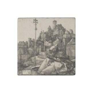 Saint Anthony by Albrecht Durer Stone Magnet