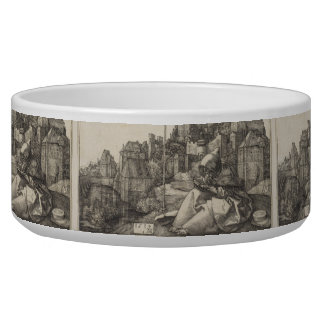 Saint Anthony Engraving by Albrecht Durer Bowl