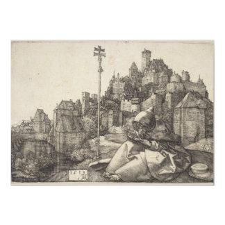Saint Anthony Engraving by Albrecht Durer Card