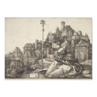 Saint Anthony Engraving by Albrecht Durer 5x7 Paper Invitation Card