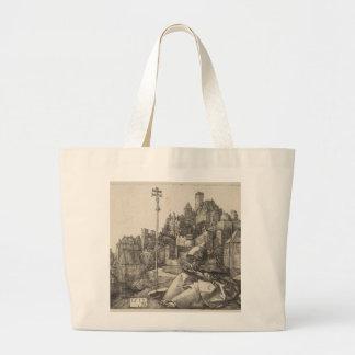 Saint Anthony Engraving by Albrecht Durer Large Tote Bag