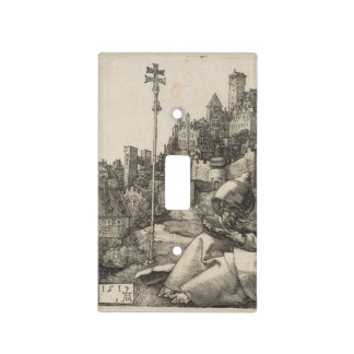 Saint Anthony Engraving by Albrecht Durer Light Switch Cover