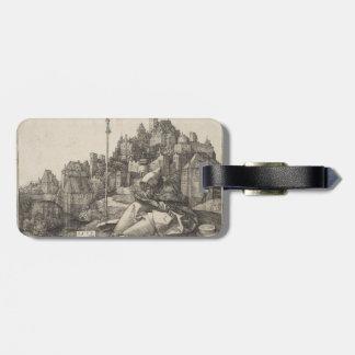 Saint Anthony Engraving by Albrecht Durer Travel Bag Tag