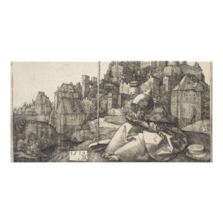 Saint Anthony Engraving by Albrecht Durer Photo Greeting Card
