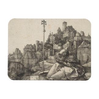 Saint Anthony Engraving by Albrecht Durer Rectangular Photo Magnet