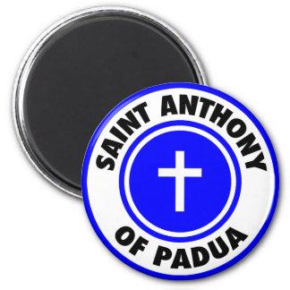 Saint Anthony of Padua 2 Inch Round Magnet