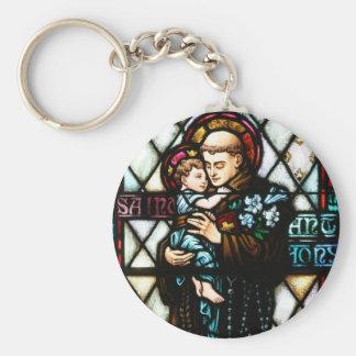 Saint Anthony of Padua Holding a Child Basic Round Button Keychain