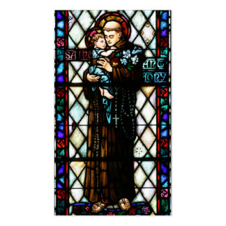 Saint Anthony of Padua Holding a Child Business Card