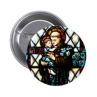 Saint Anthony of Padua Holding a Child Button