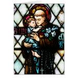Saint Anthony of Padua Holding a Child Greeting Card