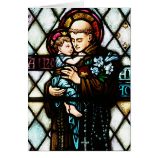 Saint Anthony of Padua Holding a Child Card