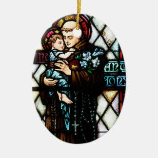 Saint Anthony of Padua Holding a Child Ceramic Ornament