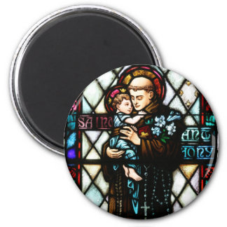 Saint Anthony of Padua Holding a Child Magnet