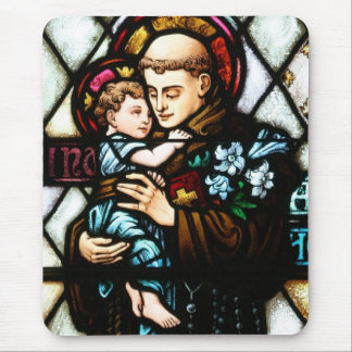 Saint Anthony of Padua Holding a Child Mouse Pad