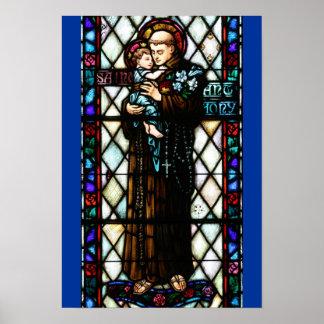 Saint Anthony of Padua Holding a Child Poster