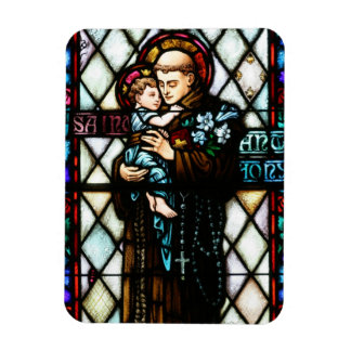 Saint Anthony of Padua Holding a Child Rectangular Photo Magnet