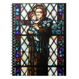 Saint Anthony of Padua Holding a Child Spiral Notebook