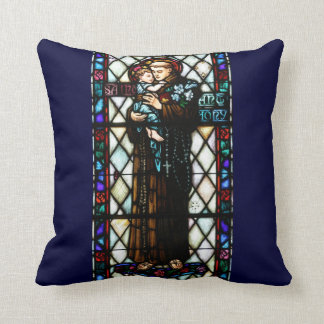 Saint Anthony of Padua Holding a Child Throw Pillow