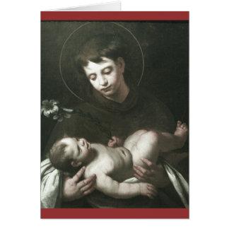 Saint Anthony of Padua Holding Baby Jesus Card