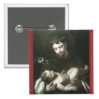 Saint Anthony of Padua Holding Baby Jesus Pinback Button