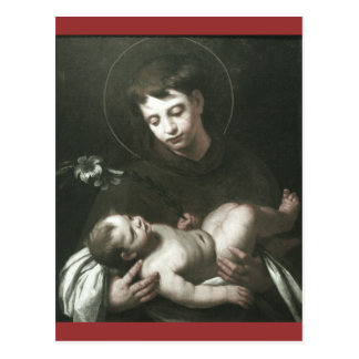 Saint Anthony of Padua Holding Baby Jesus Postcard