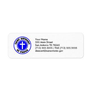 Saint Anthony of Padua Label