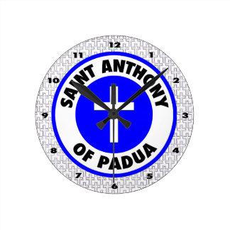 Saint Anthony of Padua Round Clock