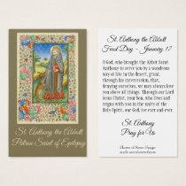 Saint Anthony the Abbott Patron of Epilepsy Holy Business Card