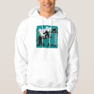 Saint Anton Austria snowboard guys hoodie