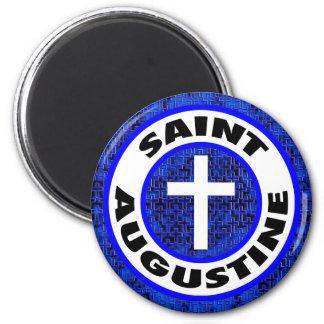 Saint Augustine 2 Inch Round Magnet