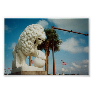 Saint Augustine Florida Bridge of Lions Photograph Poster