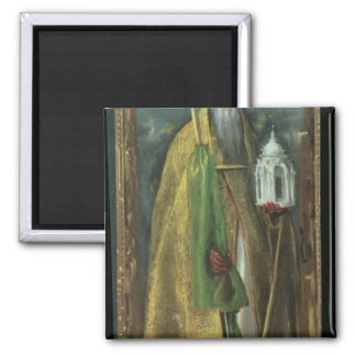 Saint Augustine of Hippo  1590 2 Inch Square Magnet