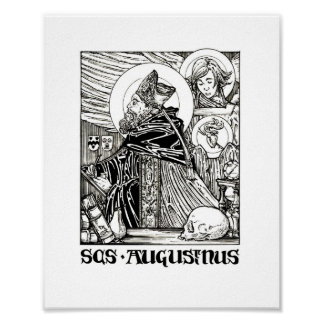 Saint Augustine of Hippo Poster