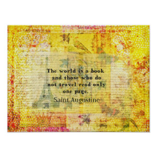 Saint Augustine Quote about Travel Poster