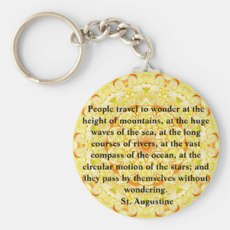 Saint Augustine travel adventure quote Keychain